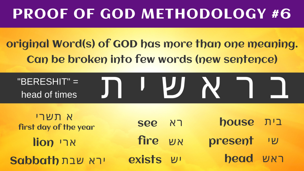 PROOF OF GOD METHODOLOGY #6