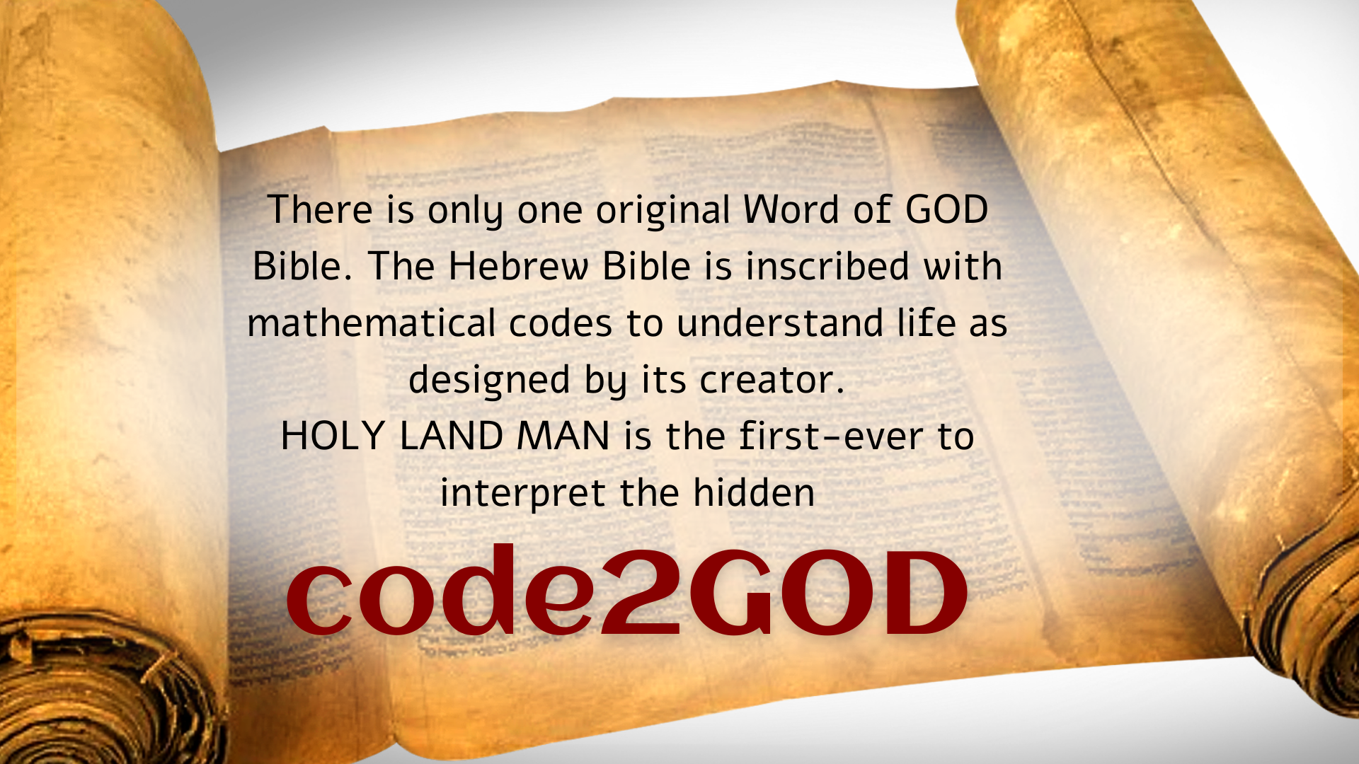 code2GOD invented by HOLY LAND MAN & Don Juravin